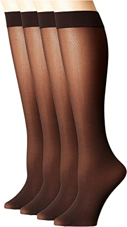 Opaque Knee High 4-Pair Pack