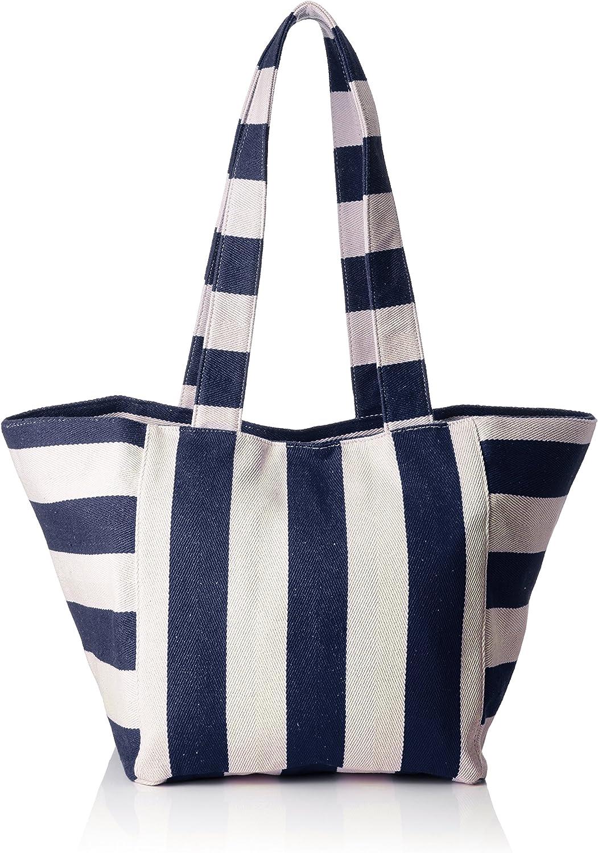 Pieces Women's Pcgillian Canvas Shopper Shoulder Bag