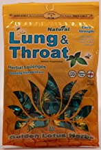 Golden Lotus Herbs Organic Lung and Throat Herbal Lozenges (1 Bag/20 Cough Drops)