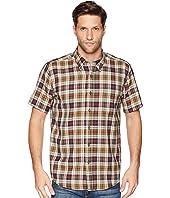 Linen Short Sleeve Button Down Collar Shirt
