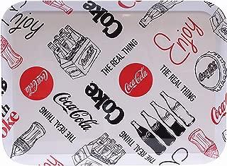 Tablecraft Coca-Cola Melamine Serving Tray, black & White Graphic Design (CC392)
