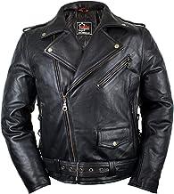 S, Schwarz MDM Motorrad Leder Kutte in Schwarz oder Wei/ß aus echtem Leder