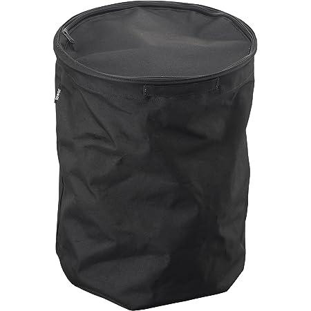 山崎実業 洗濯かご 折り畳み式 ランドリーバスケット 丸型 タワー ブラック 3288