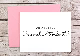 Will You Be My Personal Attendant Card, Personal Attendant Gift, Wedding Card (FPS0016)