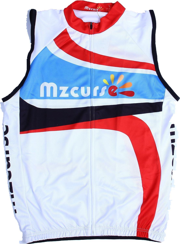 Mzcurse Men's Sleeveless Vest Cycling Jersey Shirt Bicycle Bike Tees Size XXL