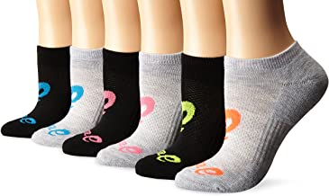 ASICS Women's Invasion No Show Running Socks, Pack of 6
