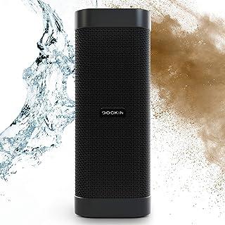 DOCKIN® D Mate Portable Bluetooth Lautsprecher, 25 Watt Outdoor Speaker mit starkem Akku (16 Std), wasserdicht, tragbare/portabel/Wireless Stereo Soundbox, integrierte Powerbank, USB Anschluss