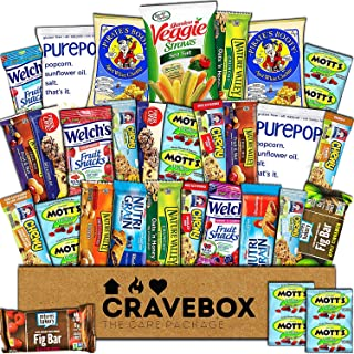 CraveBox Healthy Care Package (30 Count) Natural Bars Nuts Fruit Health and Nutritious Snacks Variety Gift Box Pack Assortment Basket Bundle Mix Sampler College Finals Students Office Trips Summer
