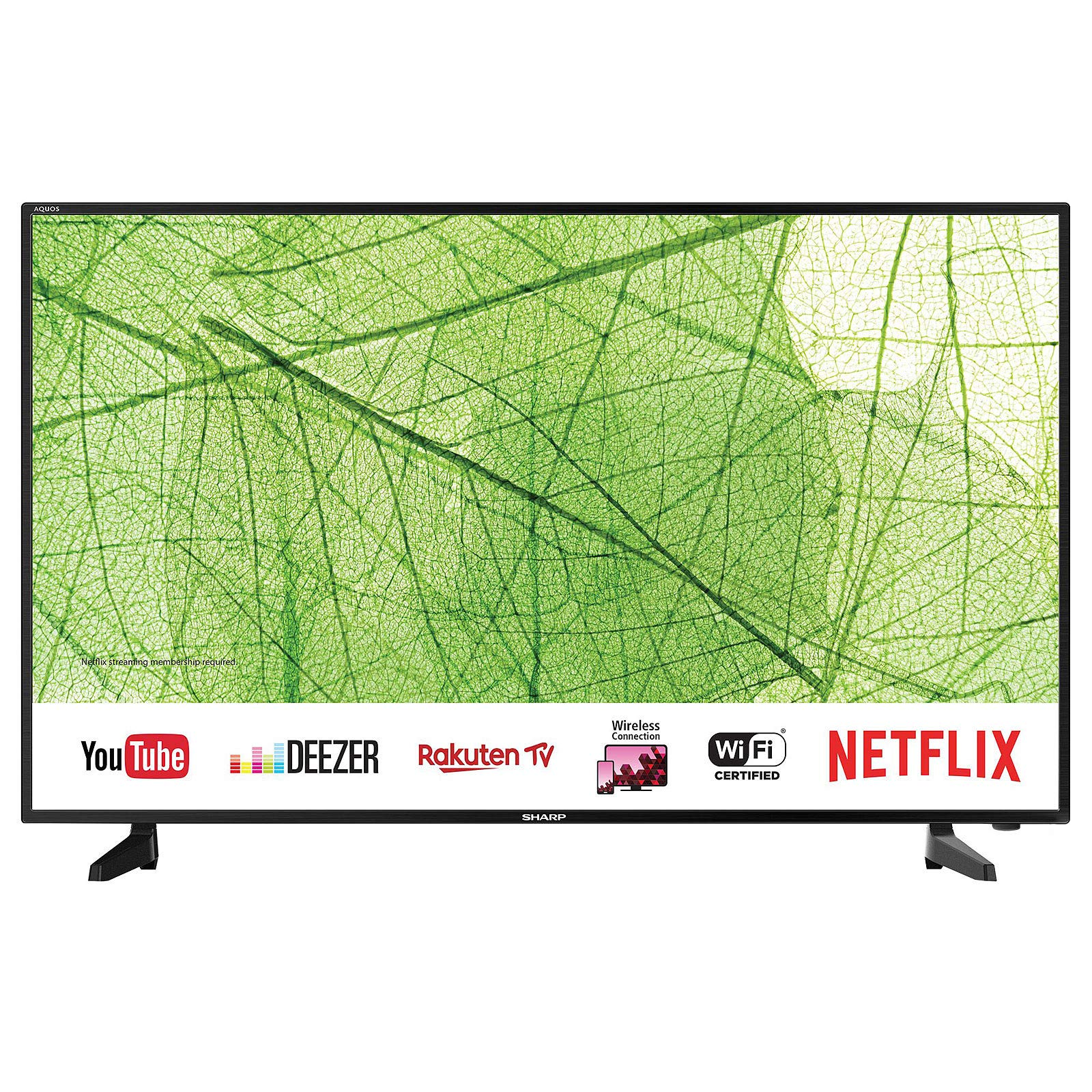 Sharp 40AJ2E, Smart TV LED 4K Ultra HD (Altavoces Harman/Kardon, WiFi, HD Tuner), Wireless/Ethernet/HDMI/Inalámbrico/USB, 40