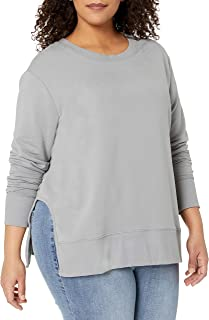 Amazon Brand - Daily Ritual Women's Plus Size Terry Cotton and Modal Pullover with Side Cutouts