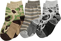 Jefferies Socks Camo Stripe Crew Socks 3 Pack (Infant/Toddler/Little Kid/Big Kid)