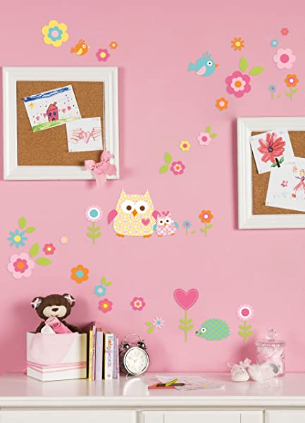 Kids Line Dena Happi Tree Wall Decals Pink Discontinued By Manufacturer