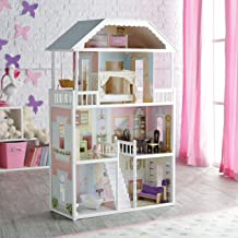 KidKraft Savannah Dollhouse Girls Play Wood Play Doll House w/ Doll Family
