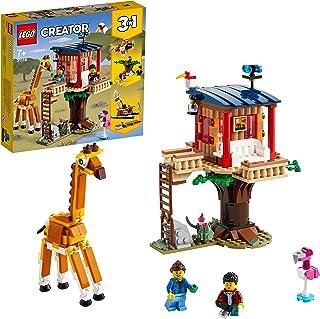 LEGO31116Creator3in1SafariBoomhut,Catamaran,DubbeldekkerSpeelgoed,BouwsetmetEenBoot,VliegtuigenLeeuw