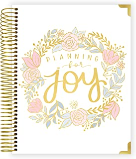 "bloom daily planners New Pregnancy and Baby's First Year Calendar Planner & Keepsake Journal - Hard Cover Scrapbook Memory Book Organizer - Undated - 8"" x 10"" - Planning for Joy"