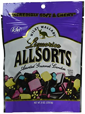Wiley Wallaby Licorice, Allsorts, 8 Ounces