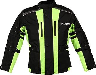 DUCHINNI Unisex-Child JAGO Youth Motorcycle Jacket (Neon Yellow, Medium)