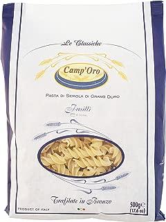 Camp'Oro Le Classiche Italian Bronze Die Cut Pasta, Fusilli, 17.6 Ounce (Pack of 12)