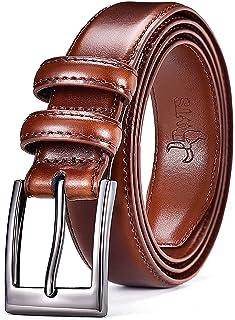 أحزمة دي دبليو تي إس للرجال كلاسيك فستان حزام مع إبزيم ذو شق واحد