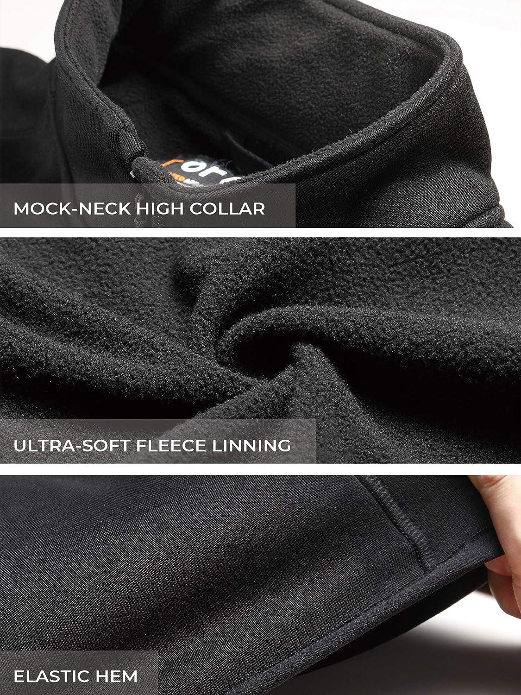 ORORO Men's Heated Fleece Jacket Full Zip with Battery Pack