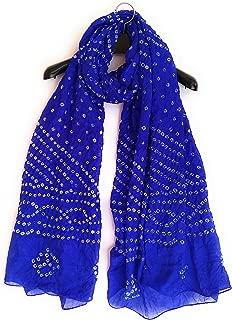 Cubic Earth Global Rajasthani Jodhpuri Dense Bandhani Bandhej Silky Ladies Woman Girls Dupatta