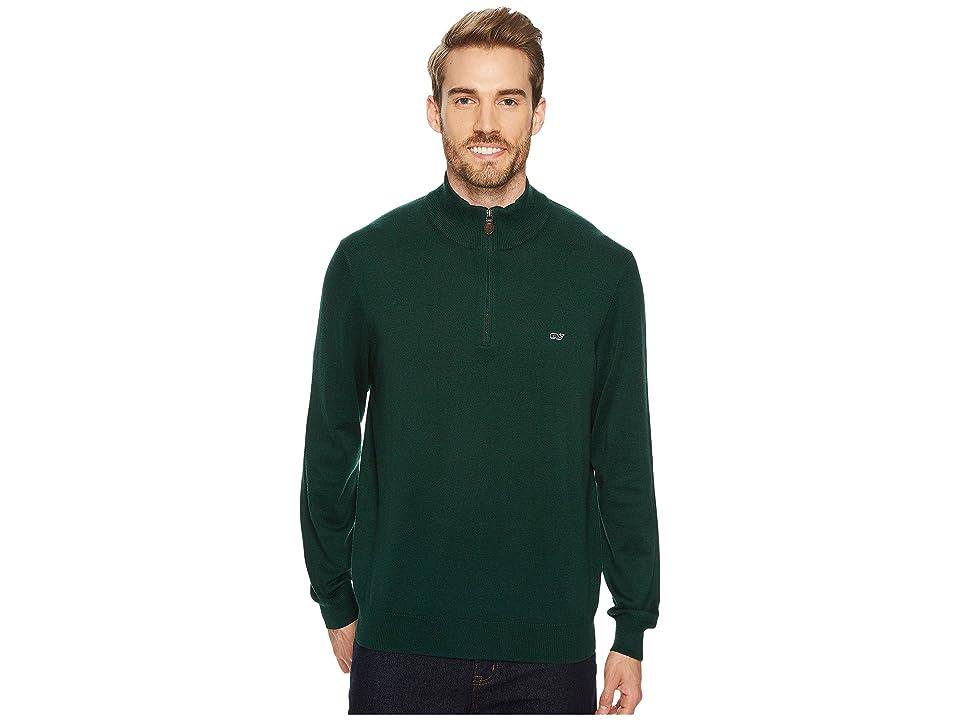 Vineyard Vines Cotton 1/4 Zip Sweater (Charleston Green) Men