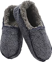 Snoozies Mens Two Tone Fleece Lined Slippers | Comfortable Slippers for Men | Fuzzy Mens Slipper Socks | Soft Sole Mens House Slippers | Multiple Sizes and Colors