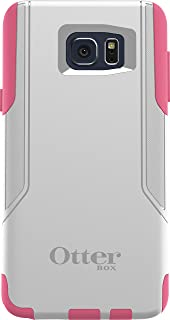 OtterBox Commuter Cell Phone Case for Samsung Galaxy Note5 -  Retail Packaging - Hibiscus Frost (White/Hibiscus Pink) -