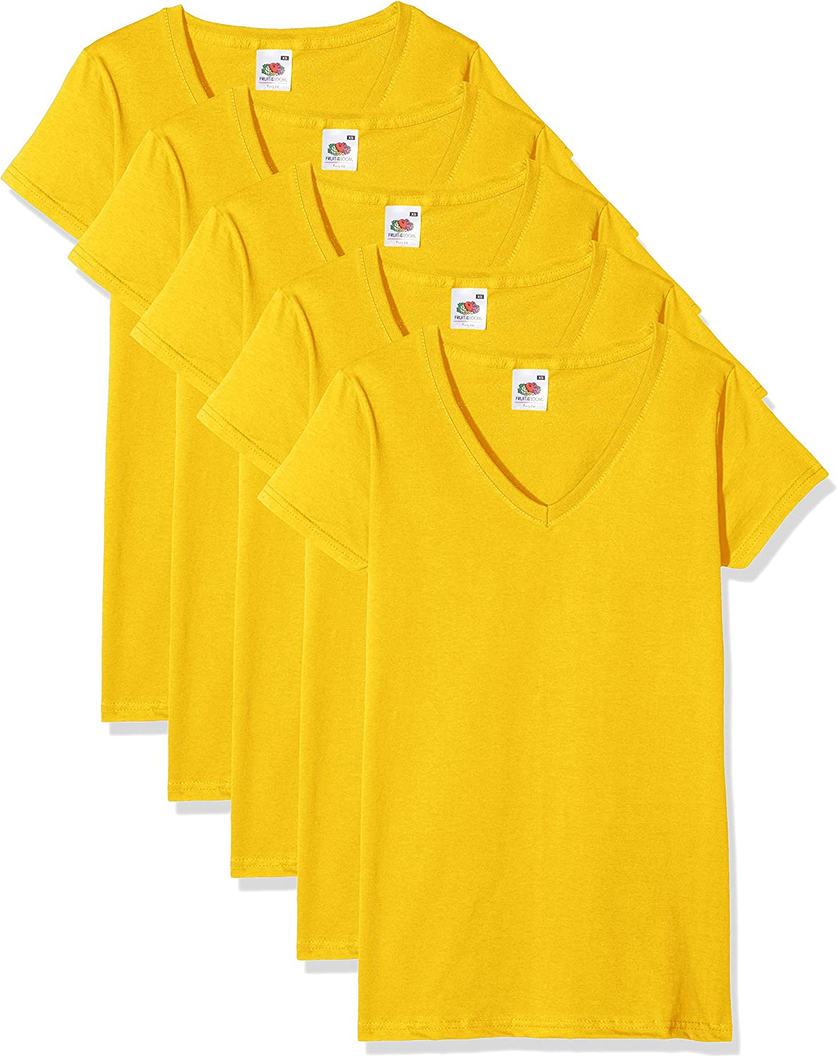 Fruit of the Loom Valueweight Camiseta Pack de 5 para Mujer
