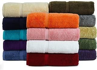 BC BARE COTTON Luxury Hotel & Spa Towel Turkish Cotton Bath Towels - Mix Color - Dobby Border - Set of 4