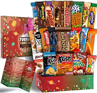 Maxi Xmas Premium International Snacks Variety Pack Care Package for Christmas, Ultimate Assortment of Turkish Treats, Mix...