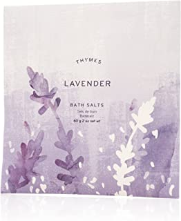 Thymes - Lavender Bath Salts - Soothing Combination of Epsom and Sea Salt for Relaxing Bath Soak - 2 oz