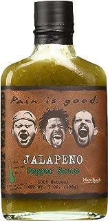 Pain Is Good Jalapeno Pepper Sauce, Medium, 7 oz