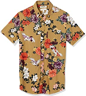 Goodthreads Slim-fit Short-Sleeve Printed Poplin Shirt Hombre