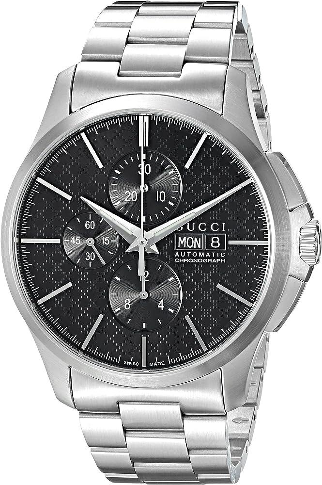 Gucci orologio cronografo uomo automatico in acciaio inossidabile YA126264