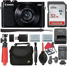 Canon PowerShot G9 X Mark II Digital Camera (Black) 3X Optical Zoom + 32GB SD + Spare Battery + Complete Accessory Bundle
