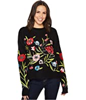 ROMEO & JULIET COUTURE - Embroidered Knit Sweater