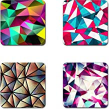 triangles geometric coasters- 4 inch diameter-Square - neoprene coasters- Eco-Friendly, Made From 100% Recycled Rubber(Set of 4 )