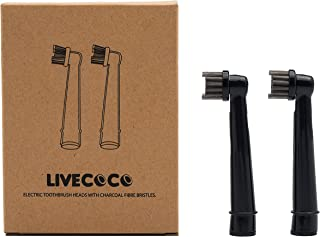 Oral-B Compatible Toothbrush Heads-100% Recyclable-Return Your Used Items For Recycling! Charcoal Infused Bristles From LiveCoco, Best For Teeth Whitening With Activated Charcoal Powder,High Quality