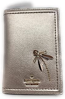 Kate Spade Imogene Lucky Dragonfly Leather Passport Holder Case Rose Gold Blush