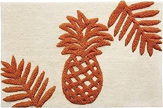 Tommy Bahama Batik Pineapple Bath Rug, Orange