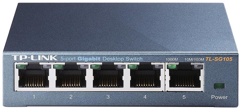 スーダン方程式無許可TP-Link スイッチングハブ 10/100/1000Mbps Gigabit 5ポート 金属筺体 ライフタイム保証 TL-SG105