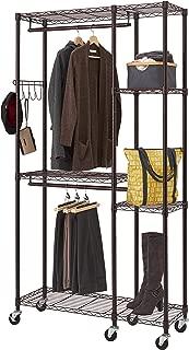 TRINITY TBFPBR-2702 Mobile Closet Organizer, Dark Bronze