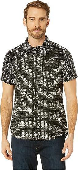 City Windows Print Short Sleeve Button Down Shirt