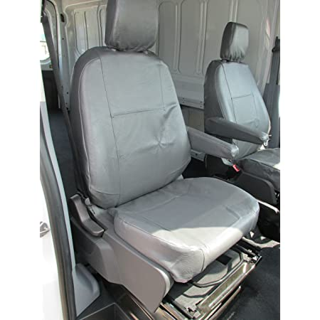 HMS FOR FORD TRANSIT TREND ALL MODELS Black And Blue Patch 1 2 Premium Van Seat Covers Single Drivers And Double Passengers Seat Covers