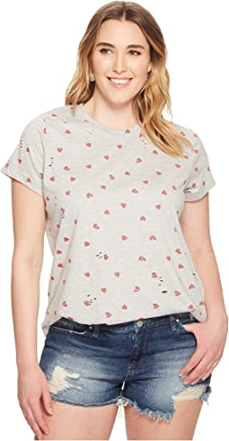 Lucky Brand - Plus Size All Over Hearts Tee