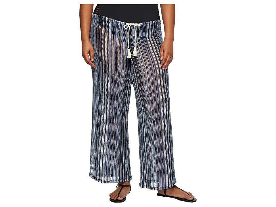 BECCA by Rebecca Virtue Plus Size Pierside Pant Bottoms (Multi) Women