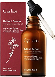 Gya Labs Retinol Serum For Face 2.5% - Hyaluronic Acid & Rose Geranium For Smooth, Young Skin - Face Serum For Wrinkles & ...