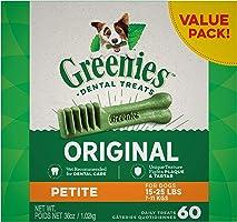 GREENIES Dog Original Petite Dog Dental Treats, 1kg (60 treats)