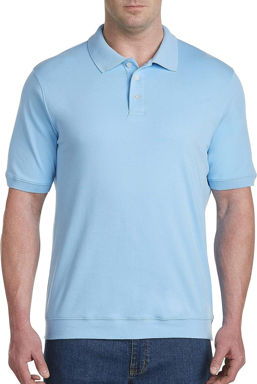 Harbor Bay by DXL Big and Tall Interlock Polo Shirt